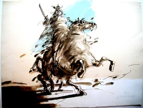 Claude Weisbuch - Le Guerrier - Originale handsignierte Lithographie kopen? Bied vanaf 290!