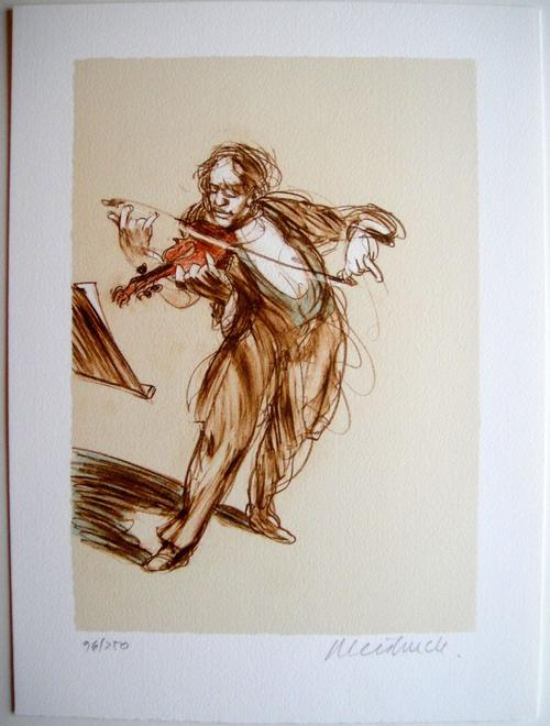 Claude Weisbuch - Le Violoniste - Originale handsignierte Lithographie kopen? Bied vanaf 170!