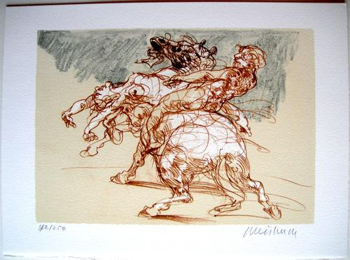 Claude Weisbuch - L'Enlèvement - Originale handsignierte Lithographie kopen? Bied vanaf 170!
