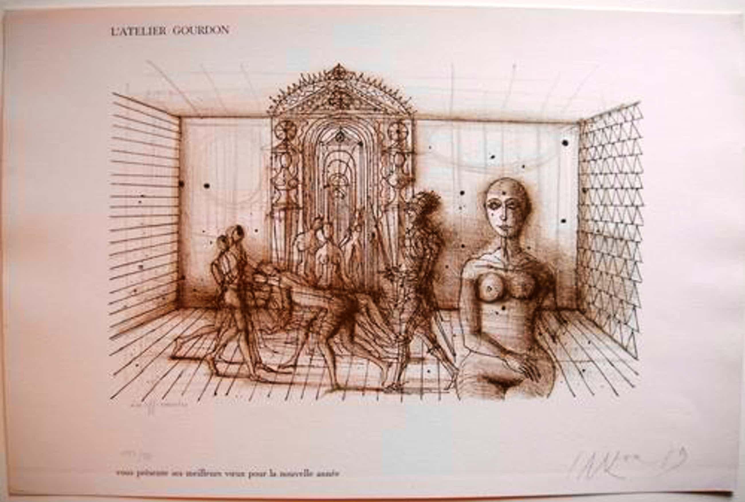 Jean Carzou - Les Officiandes - Originale hansignierte Lithografie von 1979 kopen? Bied vanaf 55!