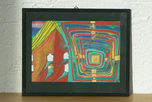 Fritz Hundertwasser - Lichtdruck Nachbarn III kopen? Bied vanaf 95!