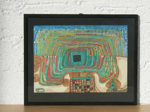 Fritz Hundertwasser - Lichtdruck Traumauto kopen? Bied vanaf 95!