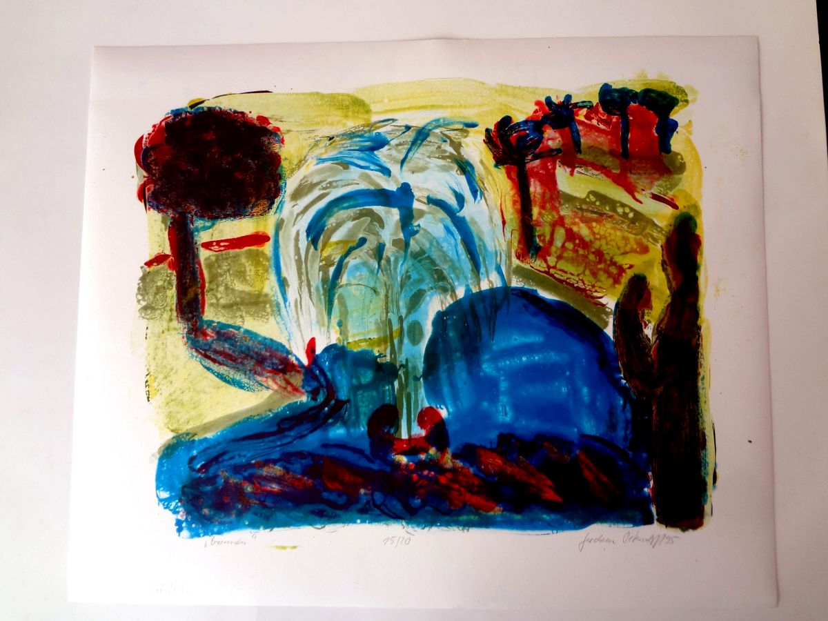 Gudrun Petersdorff - Lichtdruck(mehrfarbig) BRUNNEN, Ex.15/20, 1995, handsigniert+von Hand betitelt kopen? Bied vanaf 150!