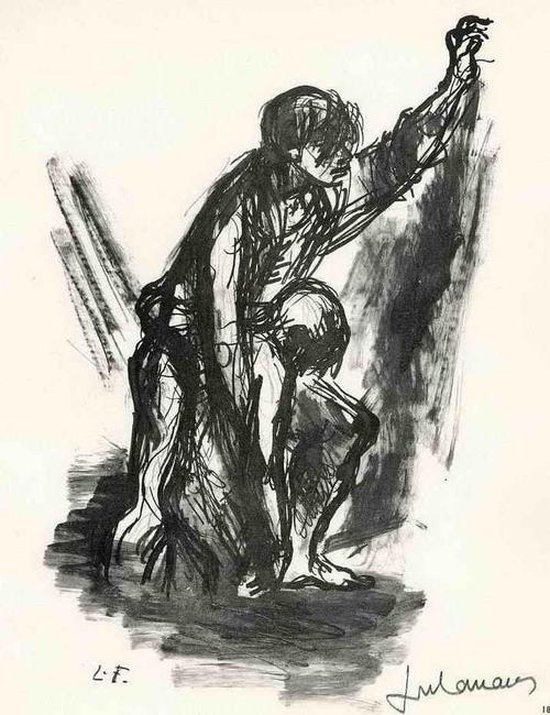 Lucien Fontanarosa - LIEBE und ELEND im KRIEG - 1962 - Handsignierte Druckgraphik auf ARCHES-Bütten (ROM-Preis 1930) kopen? Bied vanaf 35!