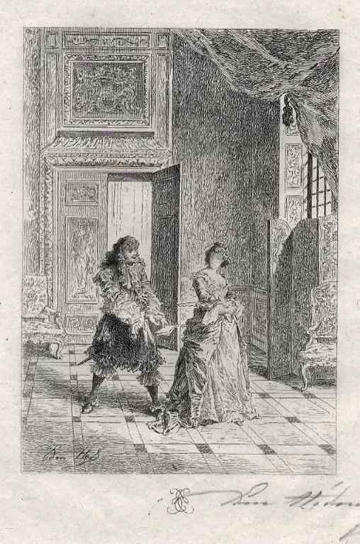 Edmond Hèdouin - LIEBESERKLÄRUNG - - EauForte Originale signée au crayon - Handsignierte OriginalRadierung kopen? Bied vanaf 39!