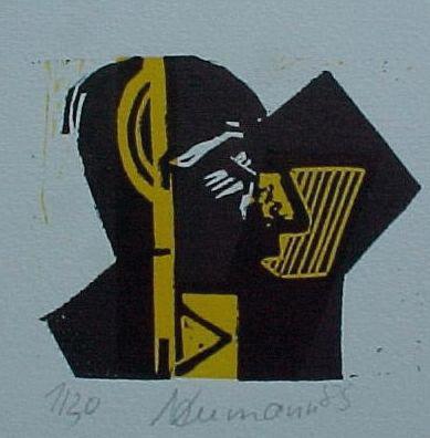 Hartmut neumann - Linolschnitt, 1985 kopen? Bied vanaf 50!