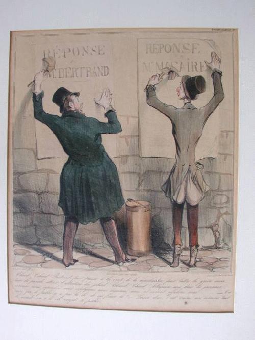 Honore Daumier - Lithographie DR 392 altcoloriert Caricaturana les Macaire kopen? Bied vanaf 25!
