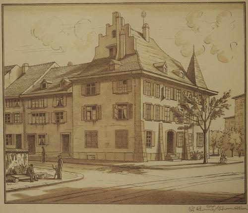 Niklaus Stoecklin - Lithographie, Dufourstrasse, handschriftlich signiert kopen? Bied vanaf 75!