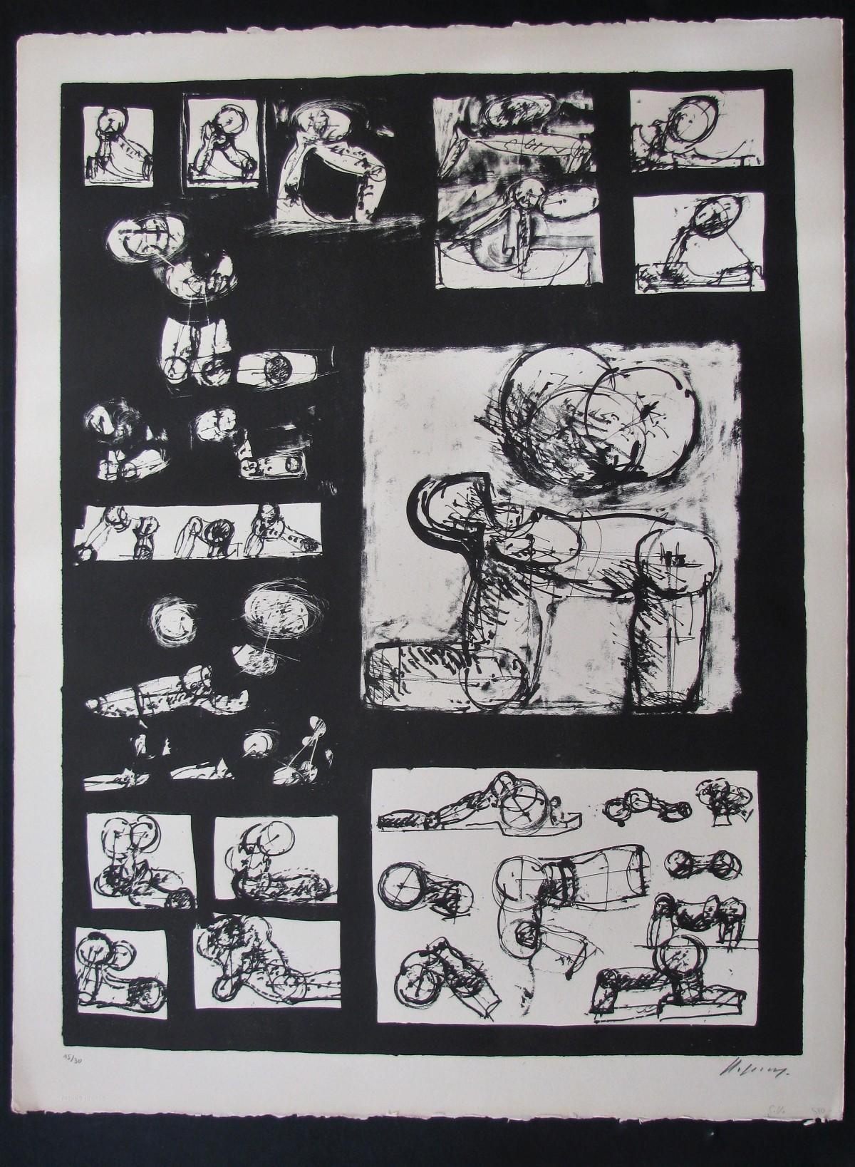 Rudolf Hoflehner - LITHOGRAPHIE , 1965 signiert . Edition 15/30 . kopen? Bied vanaf 240!