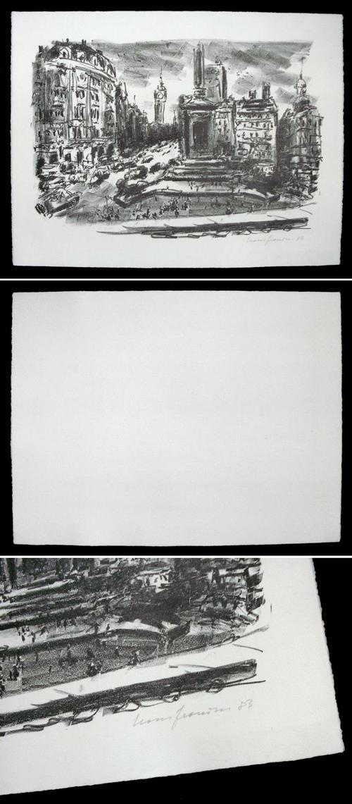 Hans Fronius - London, Trafalgar Square. Lithographie, 1983. kopen? Bied vanaf 120!