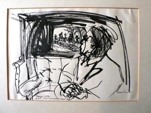 Archibald Bajorat - Look Homeward, Angel - Tuschezeichnung original - 1965 kopen? Bied vanaf 340!