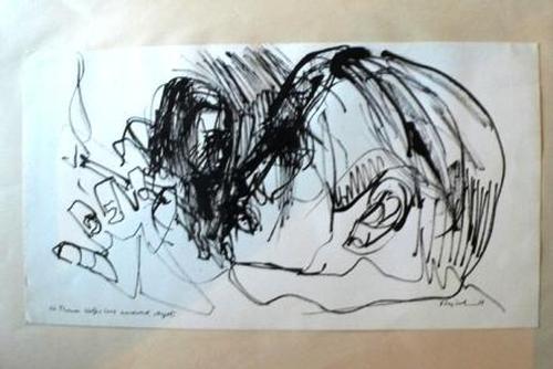 Archibald Bajorat - Look Homeward, Angel (VIII) (Schau heimwärts ENGEL) zu Thomas Wolfe - Tuschezeichnung original kopen? Bied vanaf 420!
