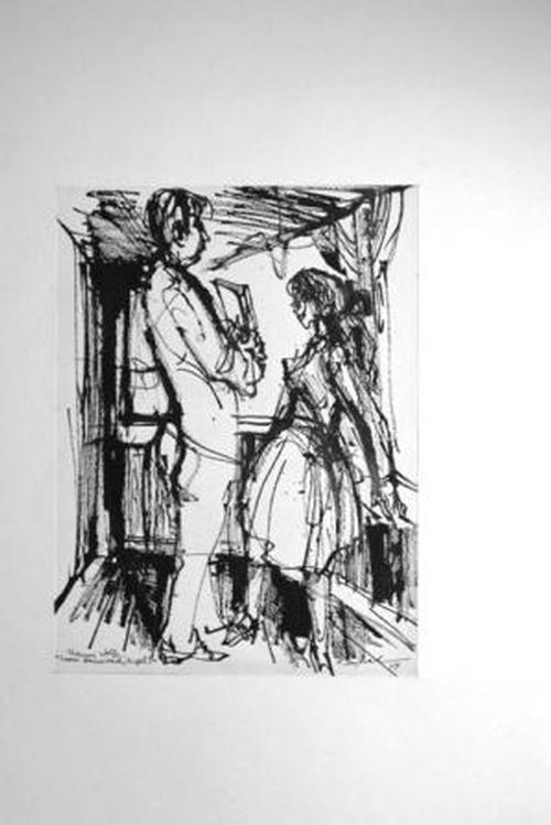 Archibald Bajorat - Look Homeward, Angel (V) -- Tuschezeichnung original - 1964 kopen? Bied vanaf 340!