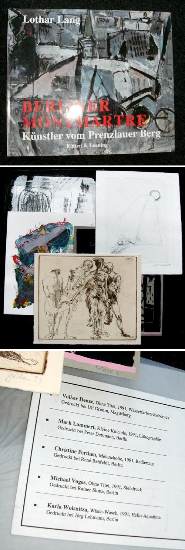 Christine Perthen - Lothar Lang: Berliner Montmartre. Künstler am Prenzlauer Berg. VA mit 5 sign. Graphiken. kopen? Bied vanaf 220!