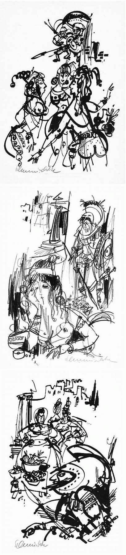 Kurt Schmischke - Lukians LYSISTRATA - 3 Graphische Arbeiten 1967, jeweils handsigniert kopen? Bied vanaf 85!