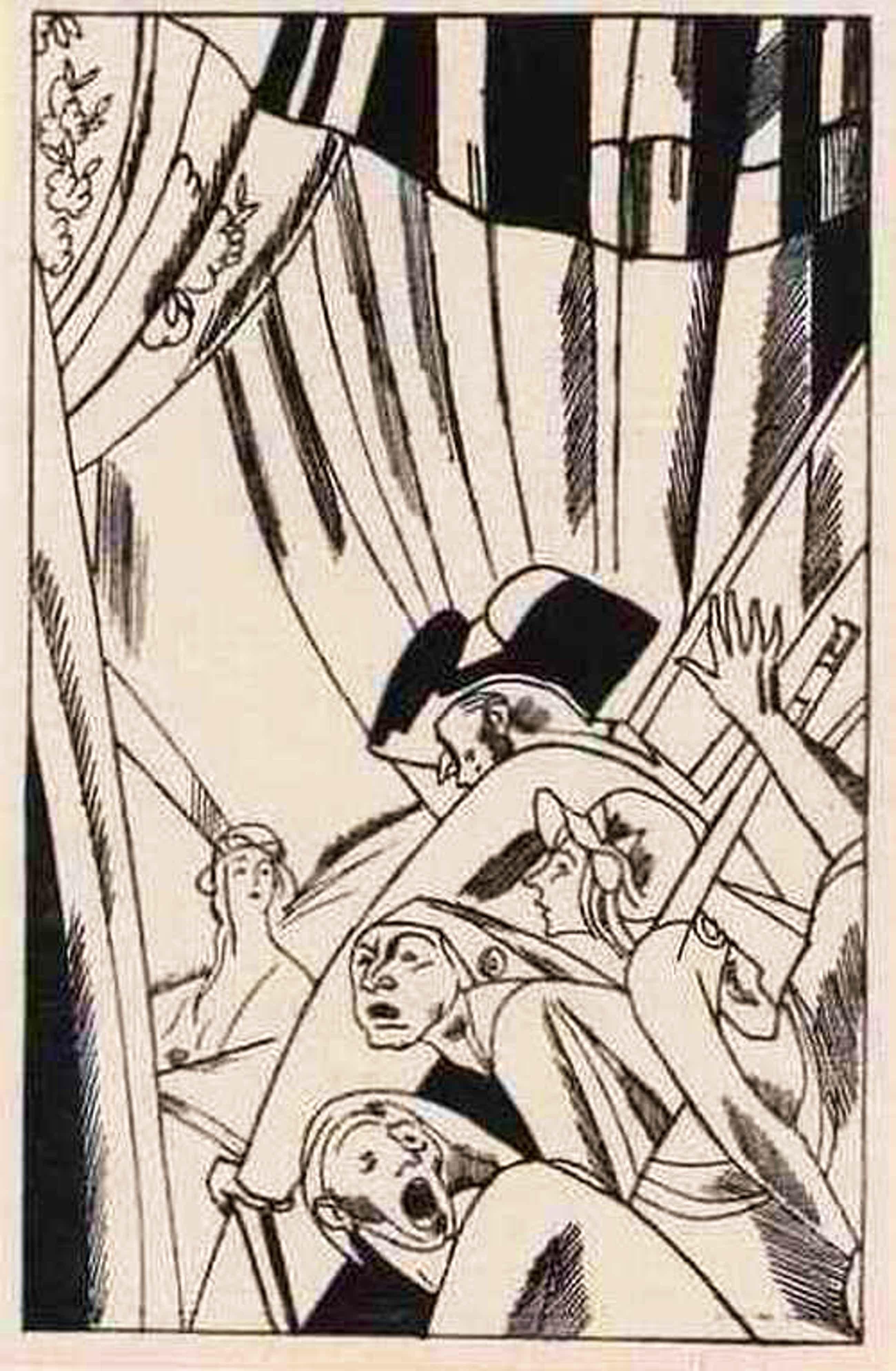 Edouard Lèon  Louis Legrand - Madame LUZY v. Anatol FRANCE - 1922 - SUITE der 21 OriginalHolzschnitte zur FRANZ.REVOLUTION kopen? Bied vanaf 95!