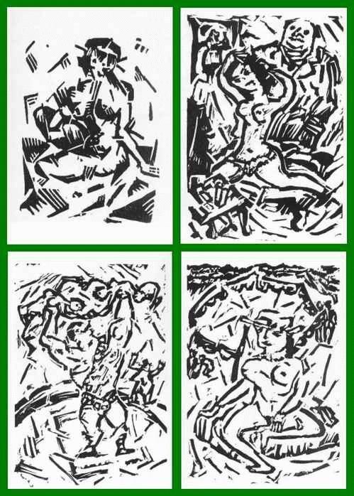 Heinrich Richter-Berlin - MÄDCHEN-AKT 1916 - KRAFTAKT - Am STRAND - KÜNSTLERIN 1974 - 4 OriginalHolz-/Linolschnitte + KATALOG kopen? Bied vanaf 42!