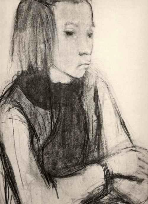 Cornelia Ruhtenberg - - MÄDCHEN - OriginalLichtdruck nach KohleZeichnung d. Fritz BURMANN & Max KAUS-Schülerin a.RIGA 1947 kopen? Bied vanaf 32!
