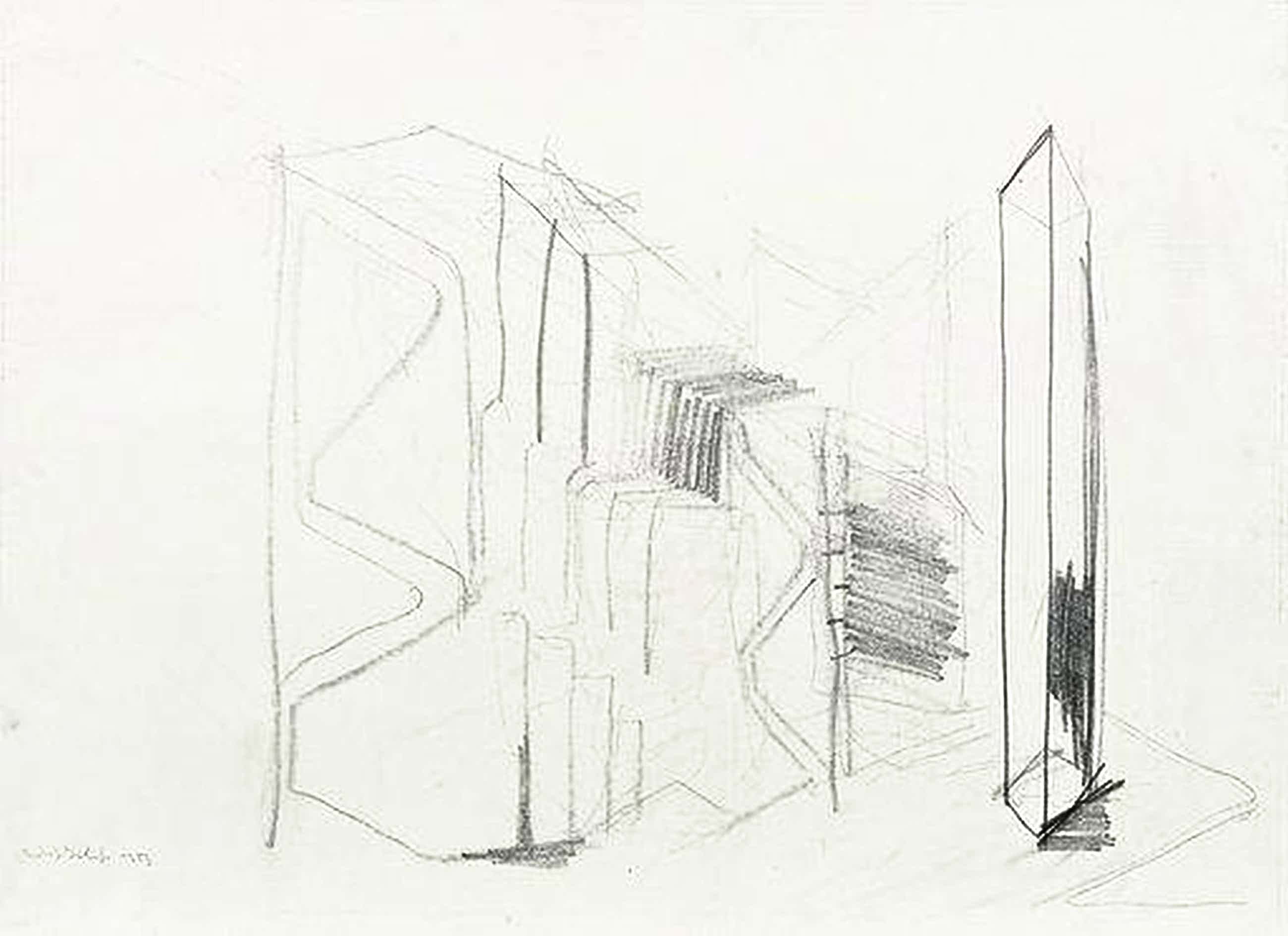 Rudolf Schoofs - Ohne Titel (Gebäudefragment New York) UNIKAT! kopen? Bied vanaf 270!