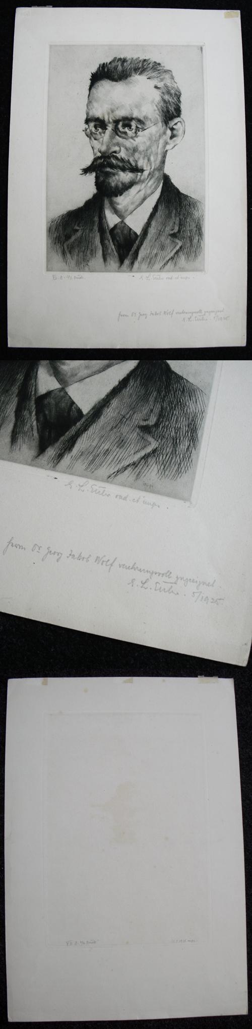 Emil Ludwig Euler - Männliches Portrait. Radierung, 1925. (Dr. Georg Jakob Wolf) kopen? Bied vanaf 120!