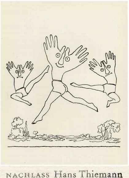 Hans Thiemann - MANUELLE FREUDENSPRÜNGE - OriginalLithographie des BAUHAUS-Schülers v. KANDINSKY & Paul KLEE - 1977 kopen? Bied vanaf 26!