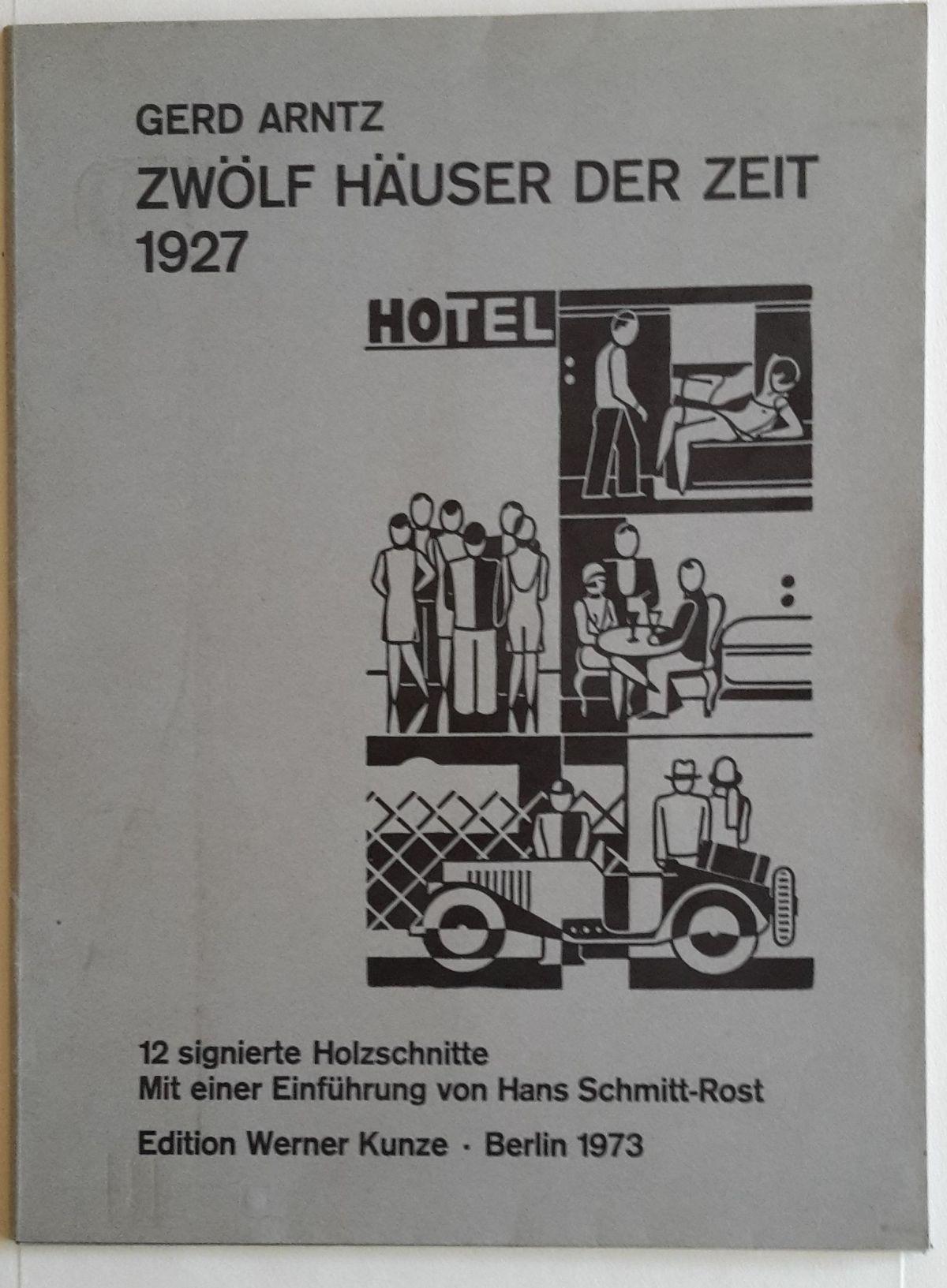 Gerd Arntz - Mappe, Zwölf Häuser der Zeit kopen? Bied vanaf 950!