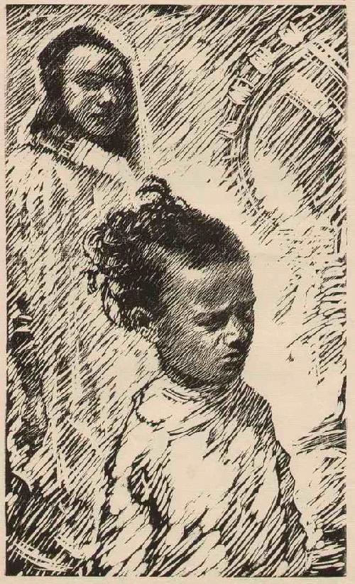 Leopold Wächtler - MAROKKANISCHE KINDER - OriginalHolzschnitt des LEIPZIGer Künstlers aus PENIG - um 1930 kopen? Bied vanaf 32!