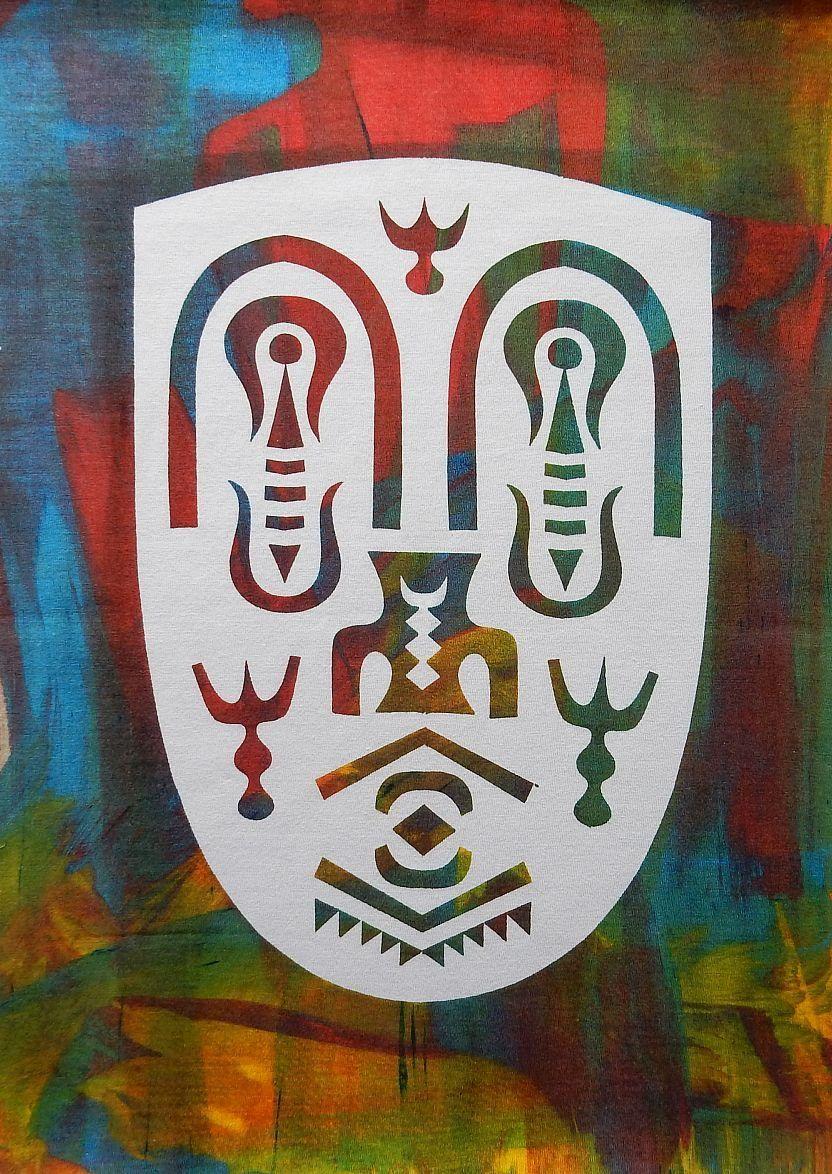 Herbert Rodriguez - Maske, Estampado, 40x30 cm, o.J., Unikat kopen? Bied vanaf 190!