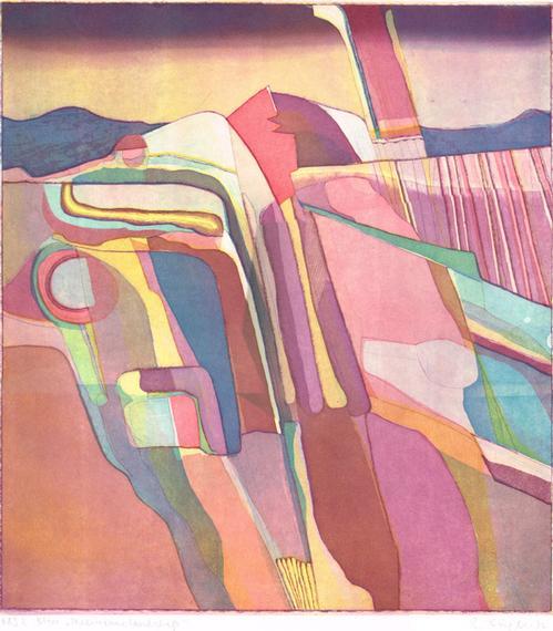 Rudolf Kügler - Mediterane Landschaft,Farbradierung,1972 kopen? Bied vanaf 680!
