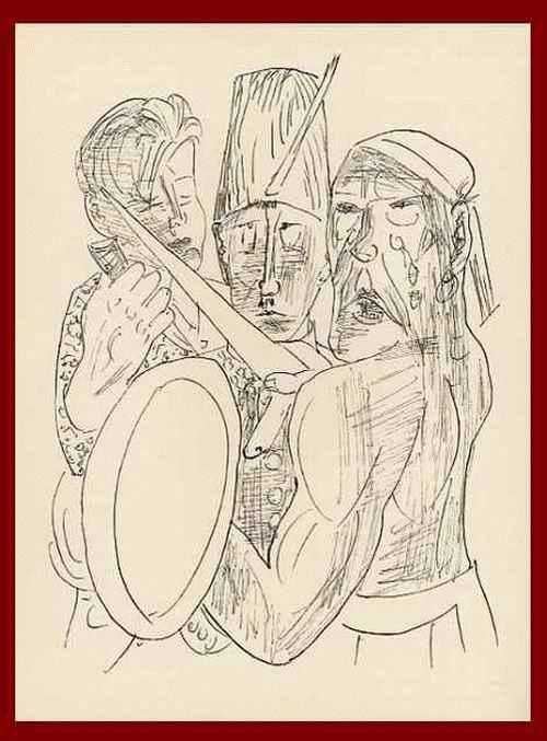 Max Beckmann - MEPHISTOPHELES - Die DREI GEWALTIGEN OriginalHolzstich 1957 mit dem Prägestempel der BlattNummer26 kopen? Bied vanaf 54!