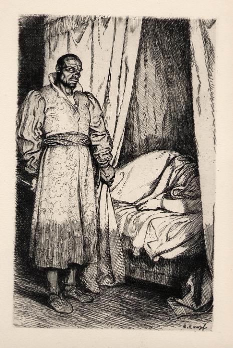 Arthur Kampf - - MEUCHELMÖRDER - Original Radierung zu Shakespeare 1920, in der Platte signiert kopen? Bied vanaf 25!