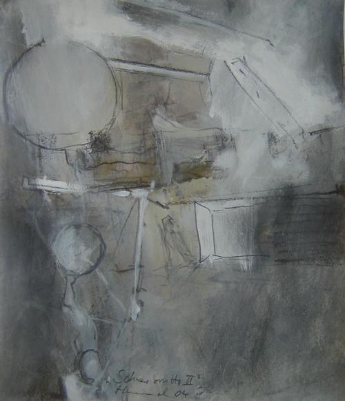 Konrad Hummel - Mischtechnik auf Papier, 35 x 30 cm, signiert und datiert 04 ( 2004 ) kopen? Bied vanaf 380!