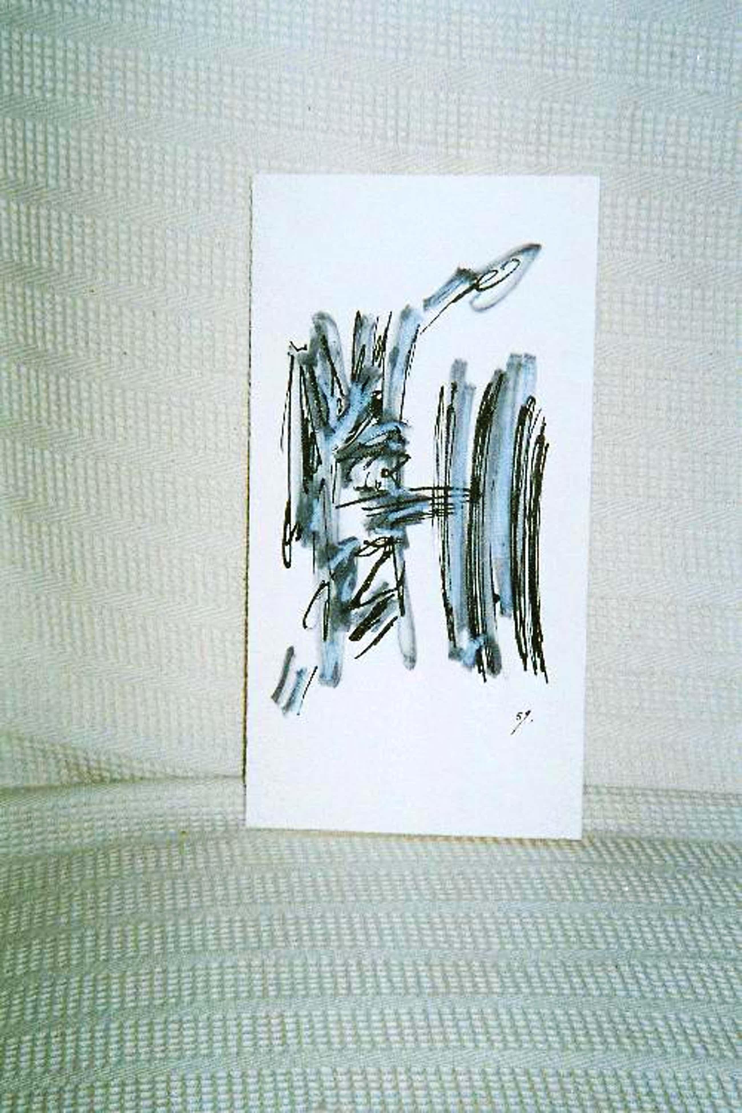 Volkmar Haase - Mischtechnik Tusche/Kreide, informelle Komposition, handsigniert, 1959 kopen? Bied vanaf 120!