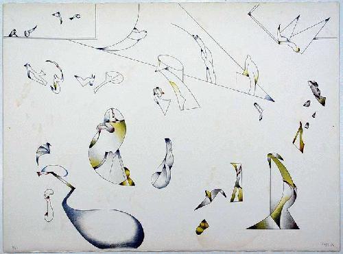 Jan Voss - - MIT AUFTRIEB - Farblithografie auf Bütten, handsigniert, datiert, numeriert kopen? Bied vanaf 290!