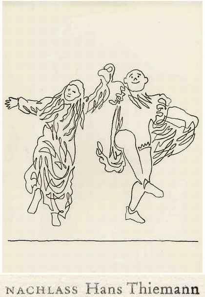 Hans Thiemann - MITTELALTERLICHER TANZ - OriginalLithographie des BAUHAUS-Schülers von KANDINSKY & Paul KLEE - 1977 kopen? Bied vanaf 26!