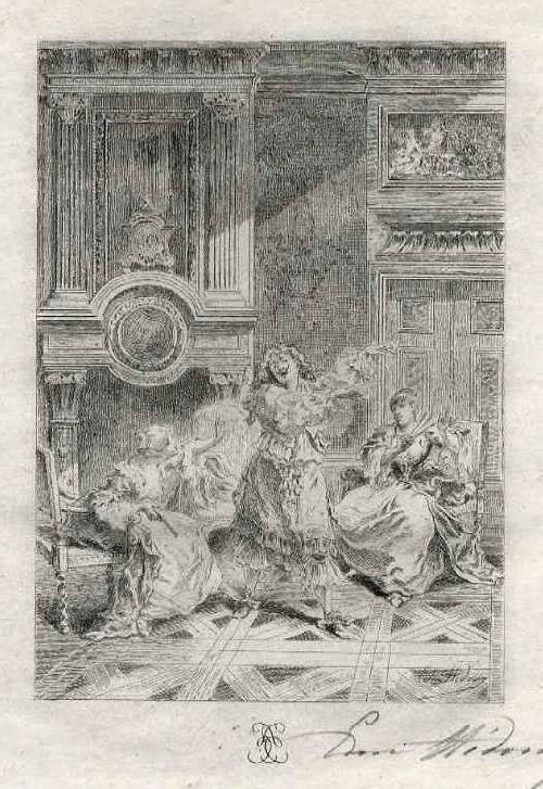 Edmond Hèdouin - MOLIÈRE - EauForte Originale signée au Crayon - SCHULE der FRAUEN - Handsignierte OriginalRadierung kopen? Bied vanaf 39!