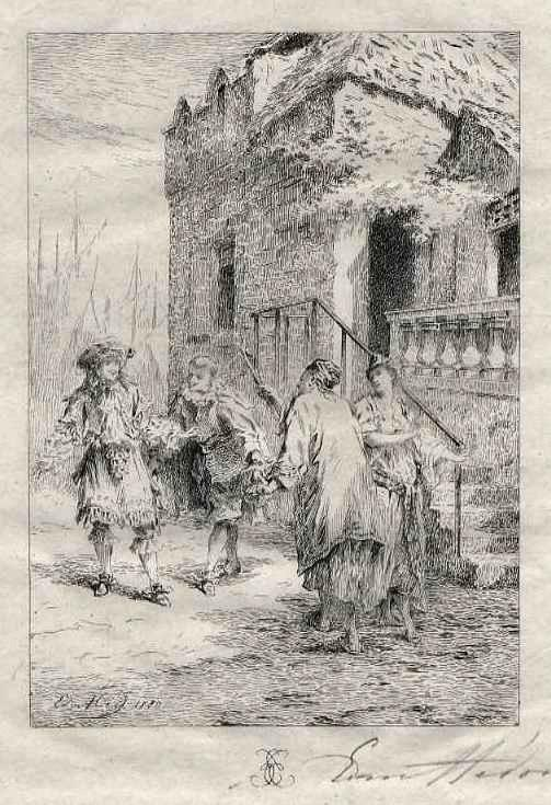 Edmond Hèdouin - MOLIÈRE - Handsignierte OriginalRadierung des NANTEUIL & DELAROCHE-Schülers - EauForte signée crayon kopen? Bied vanaf 39!