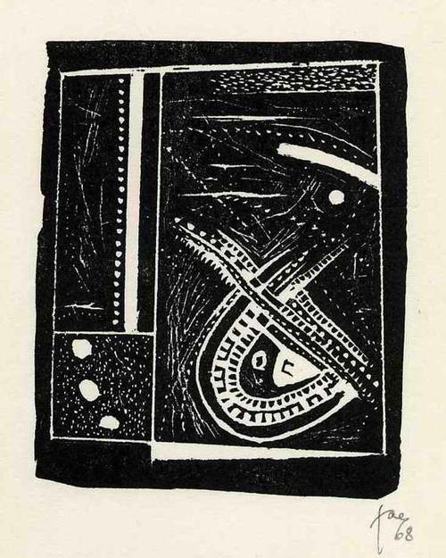 Hans Jaenisch - MONDJAHR - Handsignierter OriginalLinolschnitt 1968/69 kopen? Bied vanaf 129!