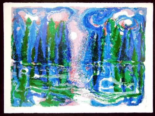 Ronald Julius Christensen - Moon Mist - romantische Farblithographie auf Bütten, handsigniert und nummeriert kopen? Bied vanaf 68!