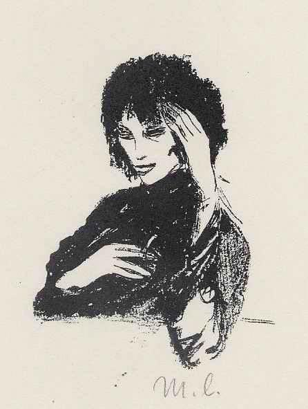 Mia Lederer - MORPHIUM - handsigniertes Portrait einer jungen Frau von der KOPENHAGENgeb.BERLINer ILLUSTRATORIN kopen? Bied vanaf 55!