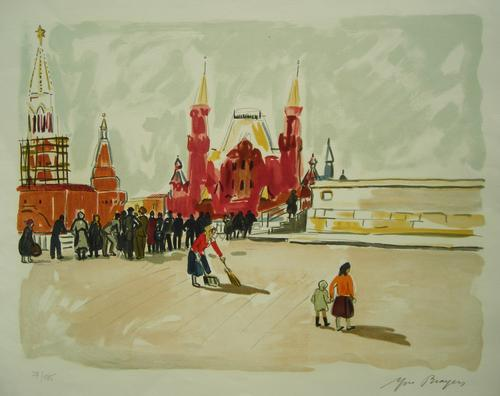 Yves Brayer - Moskau, Roter Platz, Farblithographie 37/185, handsigniert kopen? Bied vanaf 150!