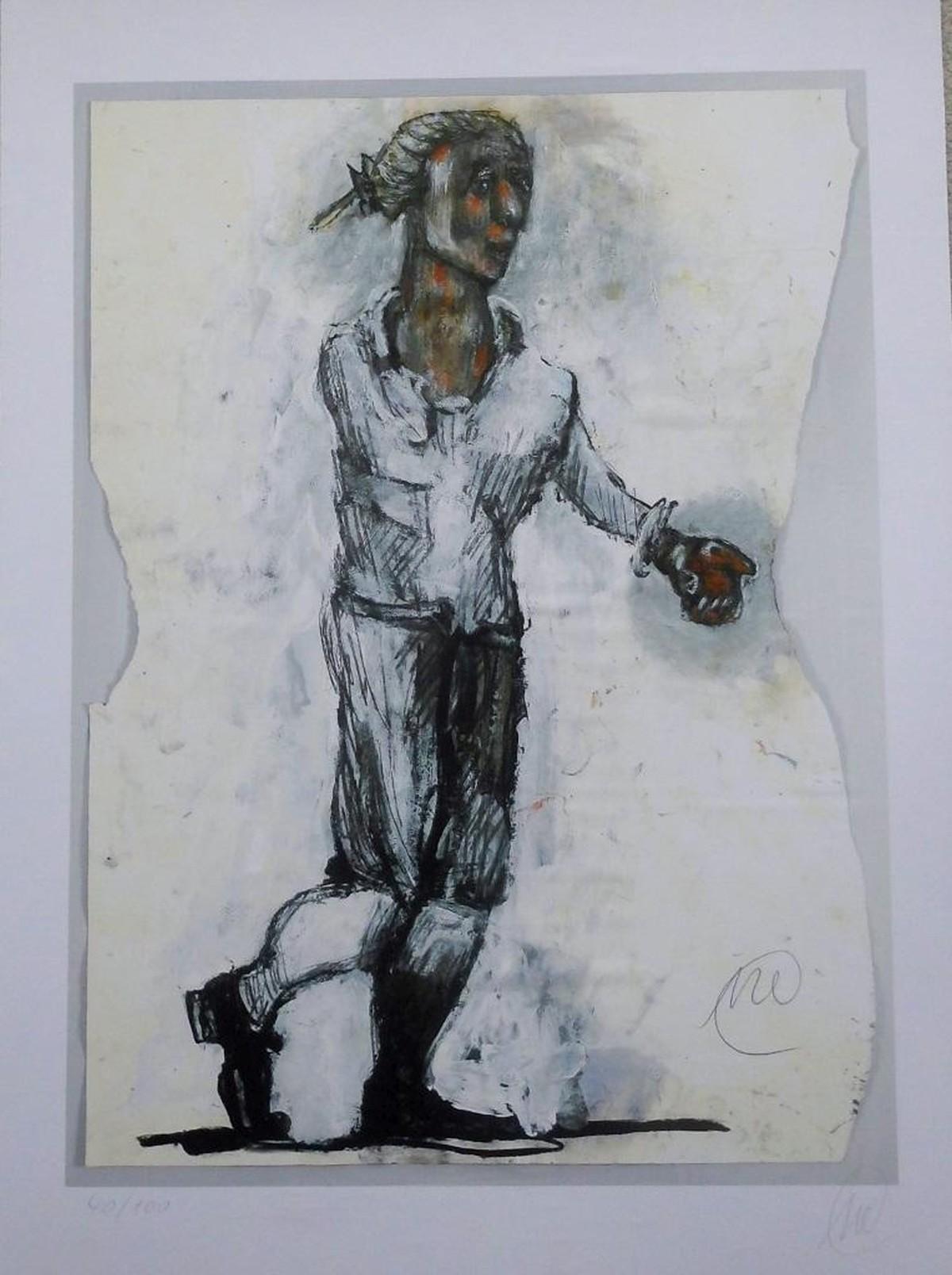 Marcus Lupertz - Mozart, digitale Seriegrafie von 2006 kopen? Bied vanaf 550!