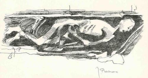 Joseph Pressmane - MUMIFIZIERT KADAVER - Handsignierte Druckgraphik des UKRAINErs der PARISER SCHULE kopen? Bied vanaf 35!