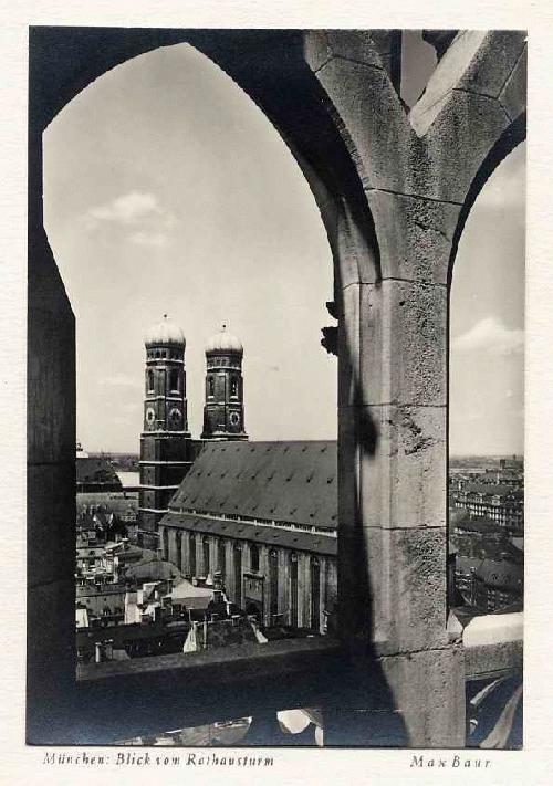 Max Baur - MÜNCHEN BLICK vom RATHAUSTURM - Montiertes Silbergelatine VINTAGE i.der Tradition des BAUHAUSES 1930 kopen? Bied vanaf 38!