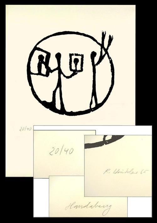 A.R. Penck - Musealer Holzschnitt 1965 , sign. dat. Ralf Winkler kopen? Bied vanaf 1650!