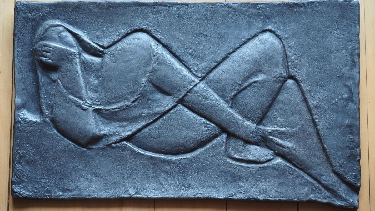 Kurt Lehmann - Museales sehr großes schweres Relief 65 x 35cm, Kurt Lehmann, Die Liegende kopen? Bied vanaf 750!
