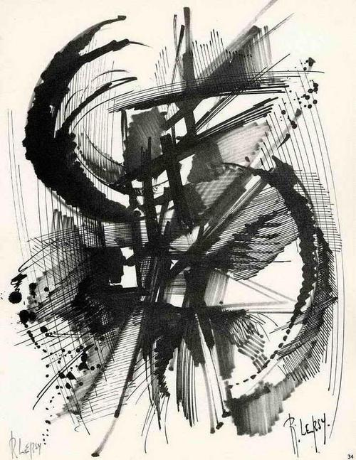 Roger Lersy - MUSIKALISCHE EXPLOSIONEN - Handsignierte Druckgraphik des MALERs & KOMPONISTEN (PARIS-NEW YORK) kopen? Bied vanaf 35!