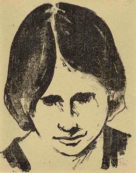 Heinz Fleischer - NAMENLOSE TRAURIGKEIT - Portrait einer jungen FRAU - handsignierte OriginalLithographie d.ZWICKAUer kopen? Bied vanaf 42!