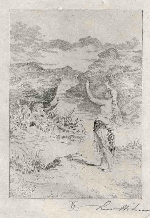 Edmond Hèdouin - NEPTUNs BRAUT- Handsignierte OriginalRadierung des DELAROCHE-Schülers - EauForte signée crayon kopen? Bied vanaf 39!