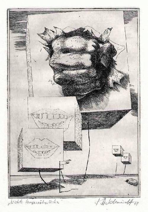 Karl Heinz Schmidt - NICHTS UNGEWÖHNLICHES - 1978 - handsignierte OriginalRadierung des HdK HALLE-Dozenten aus DRESDEN kopen? Bied vanaf 46!
